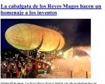 La cabalgata de los Reyes Magos hacen un homenaje a los inventos