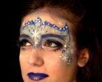 maquillage masque reine des neiges