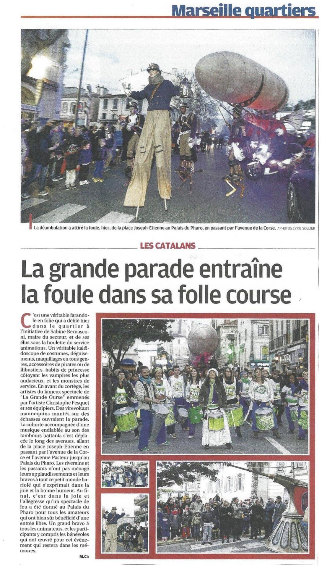 Soir de fête aux Catalans - La Provence carnaval marseille 2016