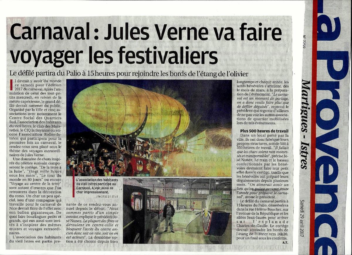 Carnaval : Jules Verne va faire voyager les festivaliers