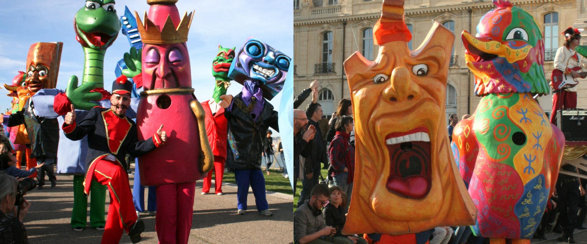 Déambulation et animation carnavalesque